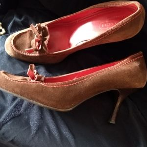 Coach brown suede pumps, size 8 and 1/2